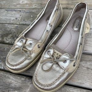 Sperry Top-Sider Loafers Gold Women's Size 8M